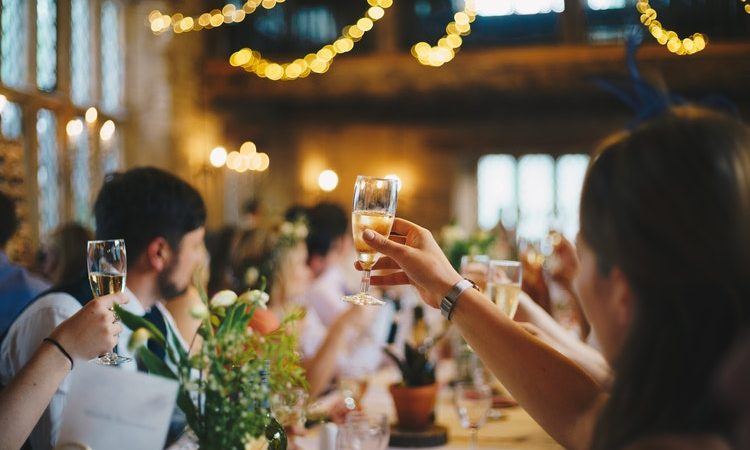 Standing Up To Sit Down Wedding Dinners