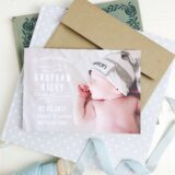 Classic trends of baby birth announcement cards